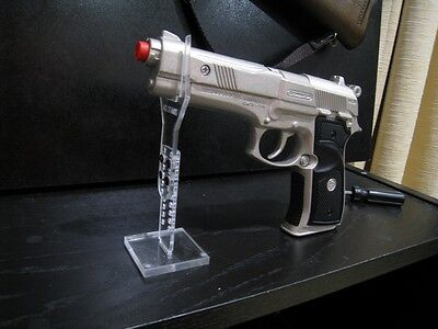 acrylic stand for diecast plastic toy gun pistol **CAP GUNS ARE NOT INCLUDED**
