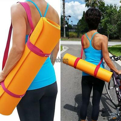 Ajustable Sling Carrier Shoulder Carry Strap Belt Canvas For Yoga Mat LEBB