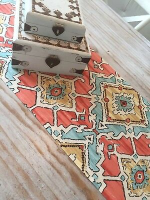 *GORGEOUS NEW MOROCCAN STYLE TABLE RUNNER 135cmX38cm*
