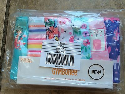 NWT Gymboree Girls Panties Underwear 7pairs 4,5/6, 7/8, 10/12