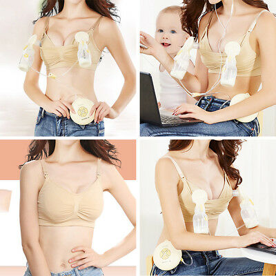 Women Mom Seamless Nursing Maternity Breastfeeding Hands Free Pumping Bra AU