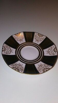 Vintage Tuscan Fine English Bone China Saucer B9962H Hand Painted Gold