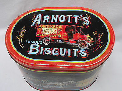 Vintage Arnott's Biscuit Tin *Delivery *Arnott's Vehicles from Bygone Days