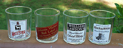 Lovely Scotch Whisky Promotional Logo Barware Spirit Glasses x 4 *Made in Italy