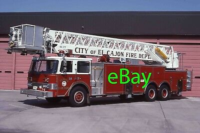 Fire Engine Photo El Cajon Rare Pierce SFI Tower Ladder Truck Apparatus Madderom