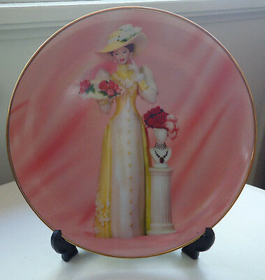 Pretty AVON President's Club Plate with Stand *2005/2006