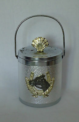 Lovely Vintage Ice Bucket *Silver & Gold Colours with Horse Head in Horseshoe
