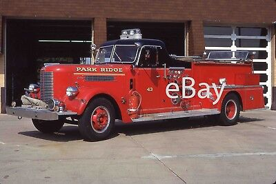 Fire Truck Photo Park Ridge Classic Pirsch 2-Door Cab Engine Apparatus Madderom