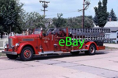 Fire Engine Photo Milwaukee Pirsch Open Cab Aerial Truck Apparatus Madderom