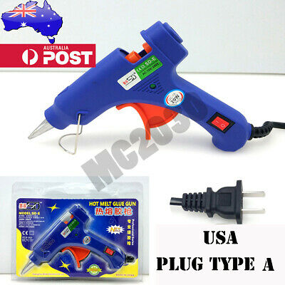 AU 20W Electric Hot Melt Glue Gun Craft DIY Repair