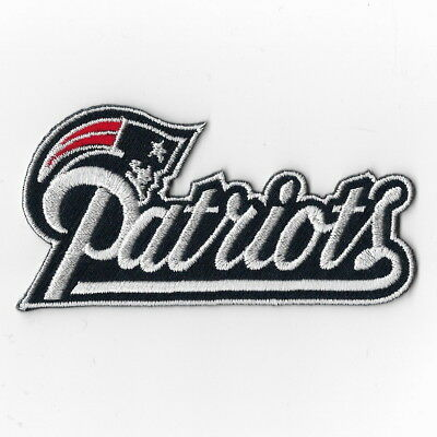 New England Patriots NFL Iron on Patches Embroidered Applique L Navy Blue
