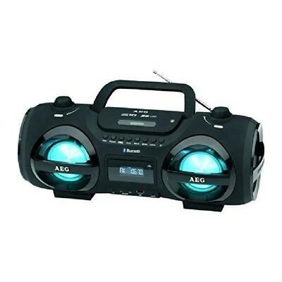 AEG SR-4359BT-BK Boombox Bluetooth Lecteur CD/MP3 USB + Card + Aux-In + Couleurs
