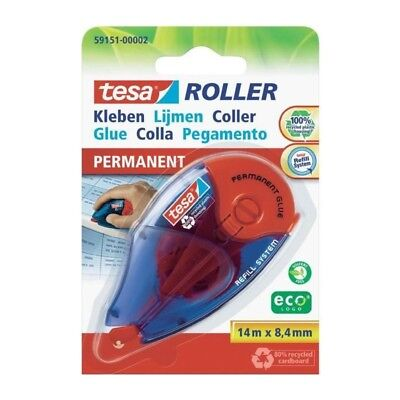 TESA Roller rechargeable colle permanente - 8,4 mm