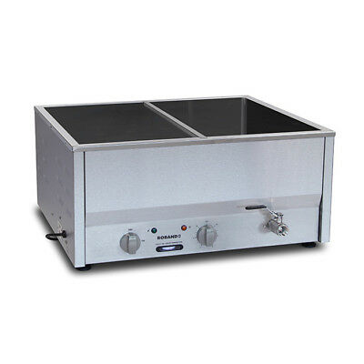 Bain Marie Hot 2/1 Size Empty No Pans, Thermostat Control Roband Food Warmer NEW