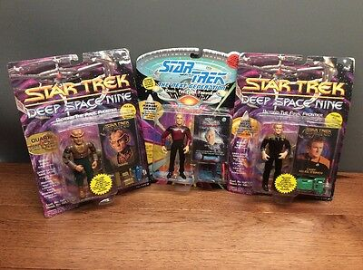 Collectible Star Trek Action Figures, Lot Of 3, Unopened Package, Vintage
