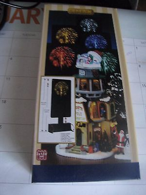 "Lemax NIB Christmas Village "" Fireworks"" 1 white and 1 yellow"