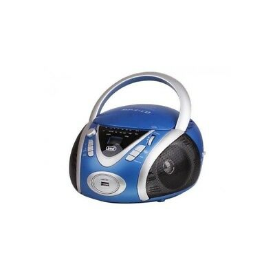 TREVI 0054204 Radio CD Portable - USB - Jack 3,5mm - Bleu