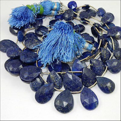 Real lapis stones neklace look natural loose gems 4 lines 8  inches approx