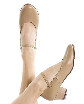 Energetiks Tap Dance Shoes Cuban Heel Black & Tan, Premium Leather Dancewear