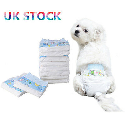 10pcs Pet Disposable Dog Doggy Confy Diaper Diapers Nappy Pads Physical Pant UK