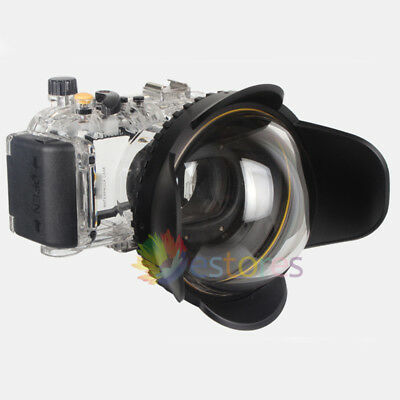 Meikon 40M Waterproof Housing Case + Fisheye Wide Angle Dome Port For Sony RX100