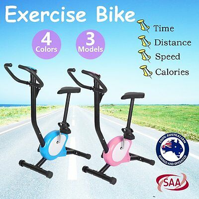 Exercise Bike Training Bicycle Fitness Cycling Machine Cardio Aerobic Gym Home H