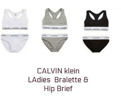 Calvin Klein CK Ladies Underwear, Thong Bralette& Hip Brief-2 Pieces Gift set