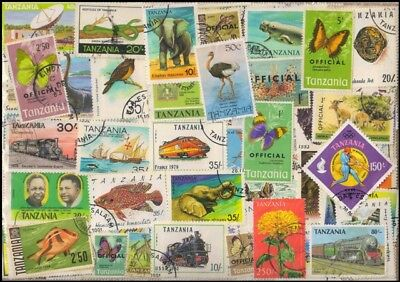 TANZANIA-415 All Different Thematic Stamps-Used Only, Large & Small