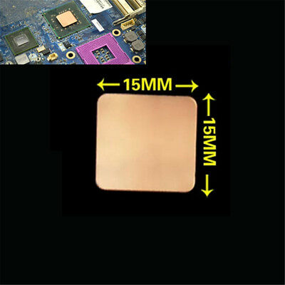 10/100pcs 15x15mm Pure Copper Cooling Plate Thermal Conductivity Copper 0.3mm