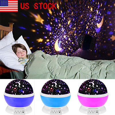 LED Cosmos Master Star Projector Baby Nursery ChildrenRoom NightLighting Lamp US