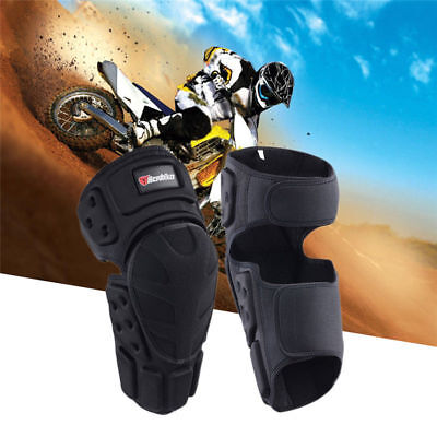 Motocross Motorcycle Racing Kneepad Knee Pads Sets Armor Protective Guard Black