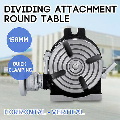 150mm Dividing Attachment Round Table 360 ° Adjustable Screw 4 Grooves