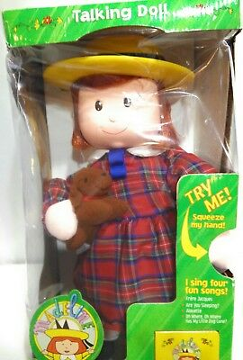 """Madeline Doll Talking Sing with Me 16"""" Eden Vinyl Head Genevieve Dog New Other"""