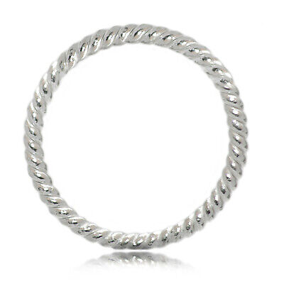 Twisted Wire Close Jump Ring 925 Sterling Silver  6, 8, 10, 12,14,16mm