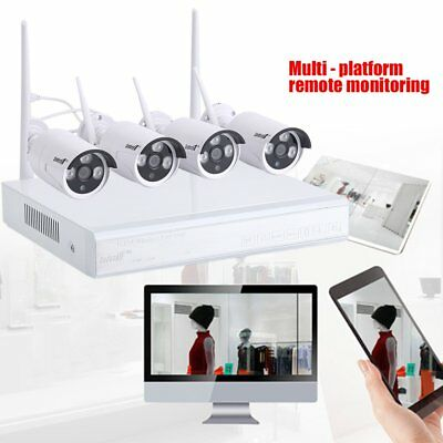 4CH Telecamera IP DVR NVR Wifi CCTV Security sistema Wireless HD IP66 4 KIT YA
