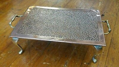 Art Nouveau Copper & Brass Food Warming Hot Plate