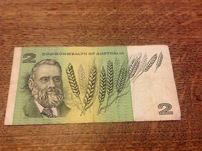 Australia Two 2 Dollars Banknote Coombs Wilson