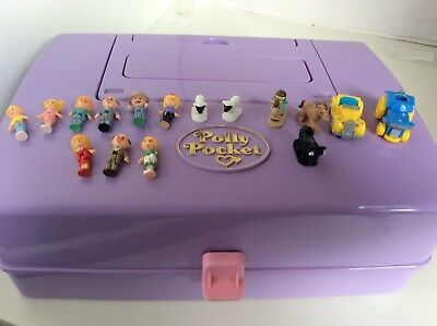 Vintage Polly Pocket 1989 Jewel Case Playset Nearly Complete
