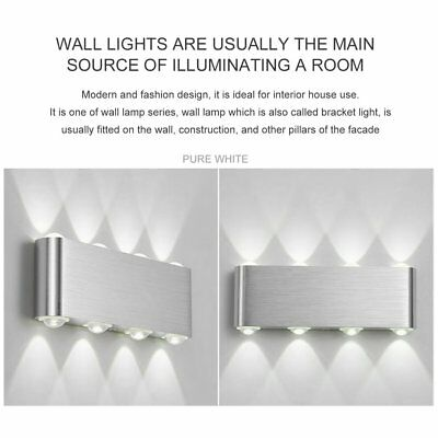 Modern Indoor Wall Lights LED Lighting Up Down Warm White Wall Lamp Sconces Sz