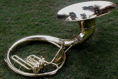"Qlty Sousaphone Shinning Brass 20"" Bell Bb ""Chopra"" 3V  BAG n M/PIECE 150116"
