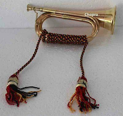 Bet Bugle Copper and Brass  Parade Good Sound Qaulity with Cord Rope Tassel1403