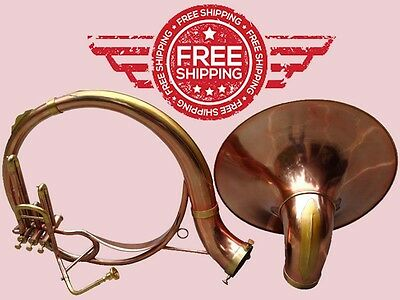 Christmas Sale Sousaphone Copper & Brass Colored Bb 3V 100% Brass+Bag M/Piece