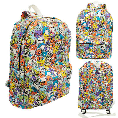 Boys Girls Backpack Pokemon Go Shoulder Bag Travel School College Gift Rucksack