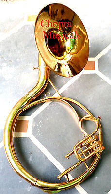 "Super Sousaphone Indian Shinning Brass 16"" Bb ""Chopra"" 3 Valve with Bag + M/ P"
