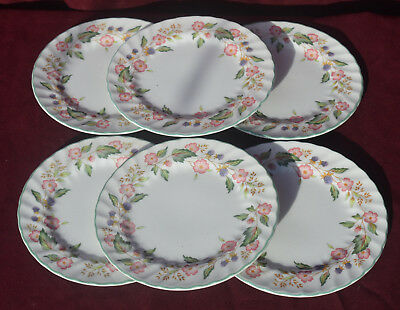 BHS Victorian Rose Side Plates X 6