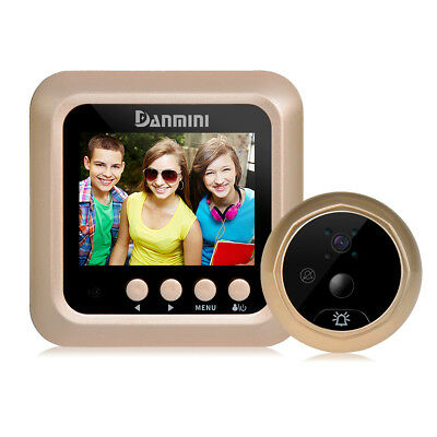 DANMINI Q5 2.4-inch Color Screen No Disturb Door Bell Peephole Viewer - Gold