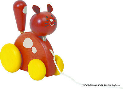 VOILA TOY wooden PULL-ALONG CAT child's educational PRE-SCHOOL ACTIVITY toy *NEW