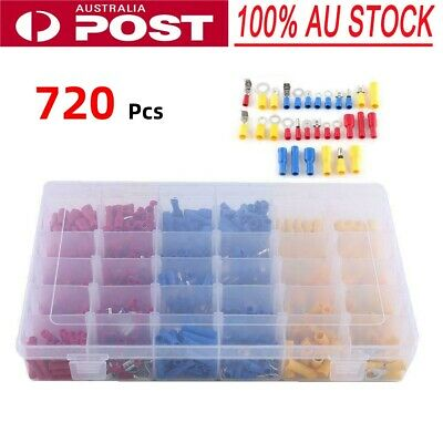 720PCS Electrical Wire Connector Insulated Crimp Terminals Spade Assorted Set