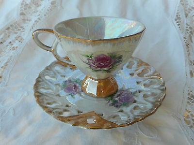 Vintage Japanese Lustre Ware  Lustreware Duo Cup And Saucer