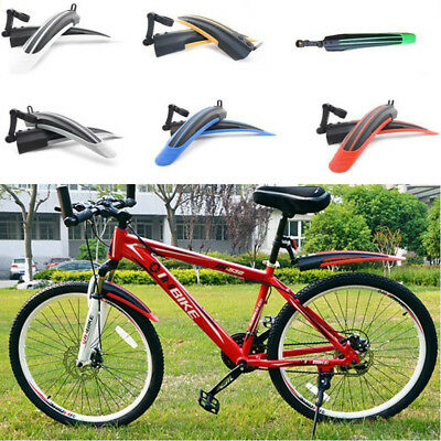 Bike Bicycle Mudguards Mountain Cycling Fender Front and Rear Mud Guard Set 2017
